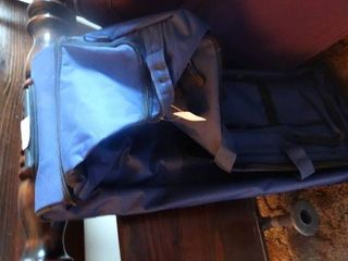 Blue Duffle Bag with Wheels