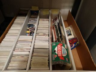 large lot assorted sports cards