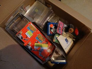 lot of assorted sports card sleeves
