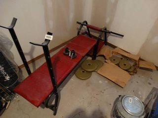 Weight bench w  weights