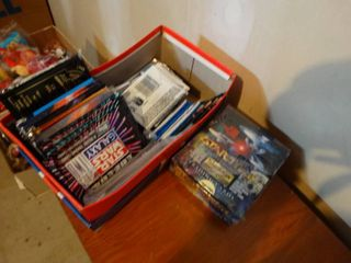Box of Star Wars trading cars   Star Trek cards