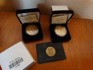3 baseball collector coins