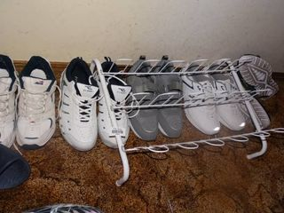 lot of Men s Shoes and Shoe Rack