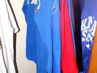 lot of KU Shirts