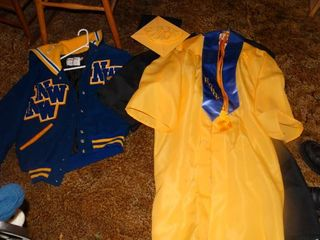 lot of 2 Graduation Gowns and NW letterman Jacket