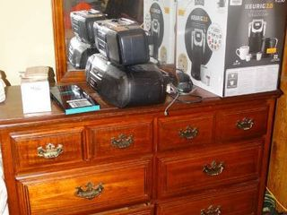 Very Nice Wood Dresser with Vanity Mirror