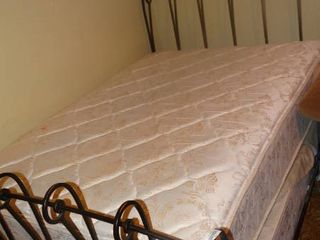 Metal Bed Frame with Mattress and Box Springs