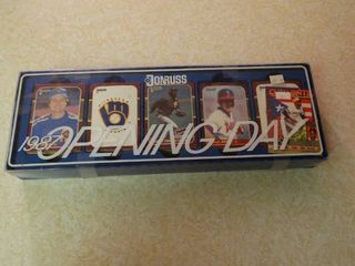 Don Russ 1987 Opening Day Baseball Trading Cards