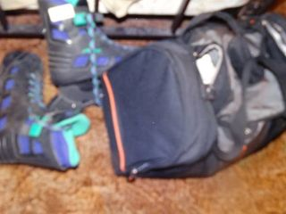 Jeep Duffle Bag with Socks and Pair of Roller Blades