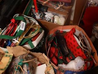 lot of Christmas Wrapping Supplies