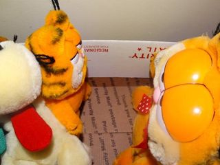 lot of Garfield Toys