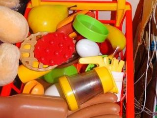Play Shopping Cart with Food