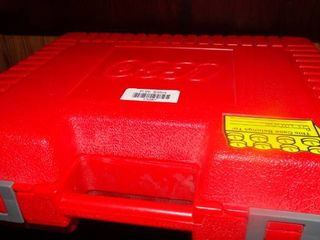 Red lego Box with Toys