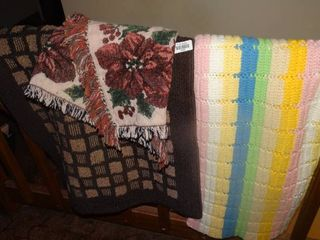 lot of Blankets and Rug