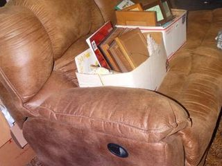 Very Soft 3 Seat Couch with Matching Recliner