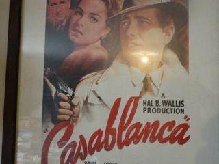 Framed Casablanca movie poster
