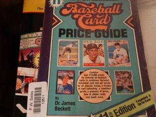 lot of Books About Trading Cards