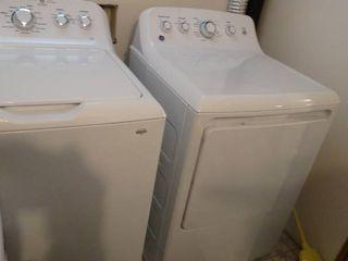White GE Washing Machine and Dryer Set