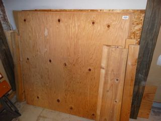 lot of assorted lumber