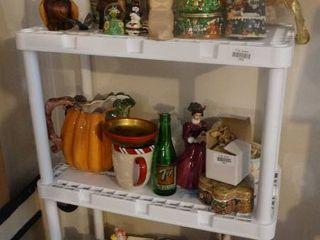 Contents of Shelf  Home Decor