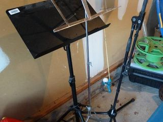 2 Music Stands and a Mic Stand