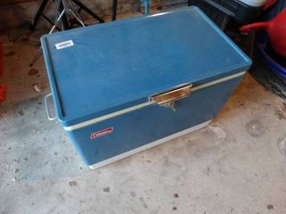 lot of Camping Supplies in Coleman Cooler