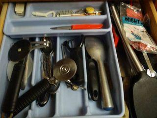 lot of Kitchen Utensils with Organizer