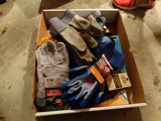 lot of various gloves
