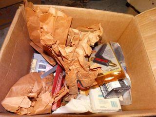 lot of Home Goods  Screws  Glue Gun  etc