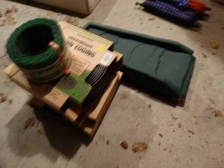 lot of lawn edging   2 drain boards