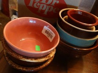 lot of Small Multicolored Bowls