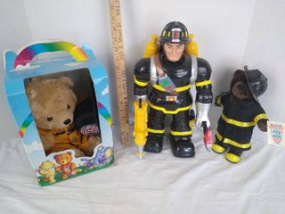 3  firefighters toys