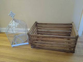 Vintage egg crate    1  bird cage