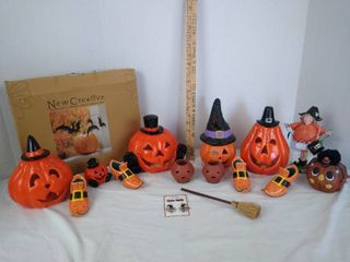 Halloween pumpkins  witch  witches shoes   bats decor