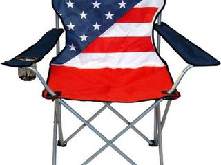 American Flag Folding Chair