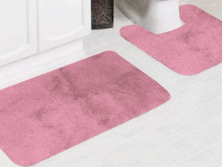 Pink Bath Mat Set