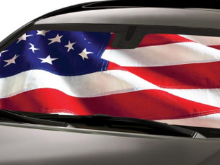 American Flag Sunshade for Car