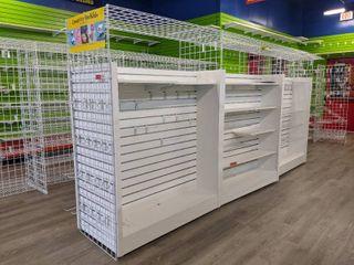 Row Of Retail Shelving