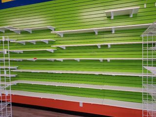 10ft Slat Wall With Shelves