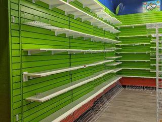 Slat Wall With Shelves