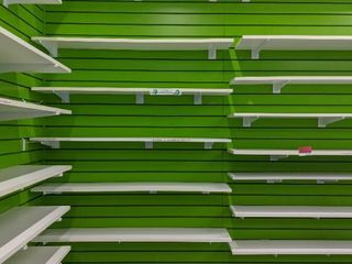 Slat Wall With Shelving