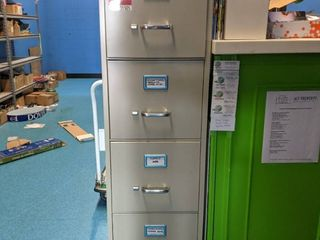 File Cabinet With Two Wooden Shelves