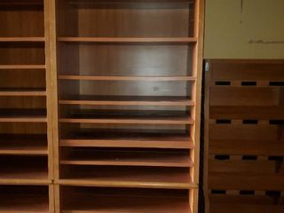 8ft Wood Bookcase