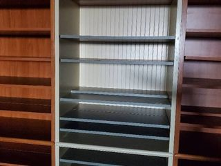 8ft Cream Colored Bookcase