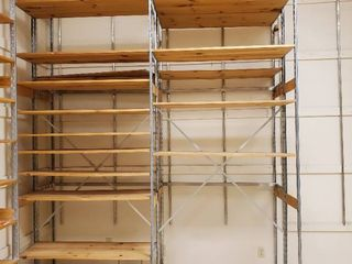 8ft x 3ft x 10ft Wood Metal Shelving