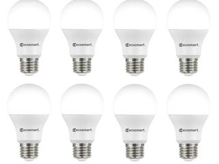 EcoSmart 60 Watt Equivalent A19 Non Dimmable lED light Bulb Cool White  8 Pack