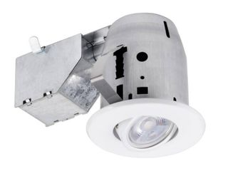 Commercial Electric 3 in  New Construction or Remodel Recessed Kit with lED Bulb