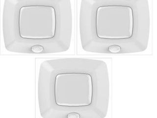 Commercial Electric 3 in  Motion Activated lED White Puck light  3 Pack