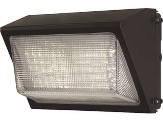 Commercial Electric Commercial 450 Watt Equivalent Integrated Outdoor lED Wall Pack  6800 lumens  Dusk to Dawn Outdoor Security light