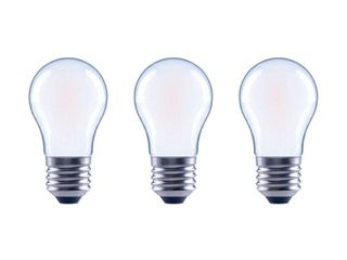 EcoSmart 60 Watt Equivalent A15 Dimmable Frosted Glass Filament Vintage Edison lED light Bulb Bright White  3 Pack